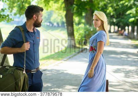 Love At First Sight Concept. Man And Woman