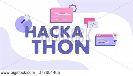 Hackathon Illustration. Forum For Software Developers Modern