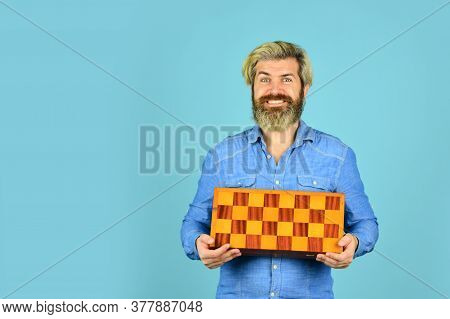 Chess Figures. Game Strategy Concept. Chess Lesson. Teacher Chess Competition. Board Game. Man Playi
