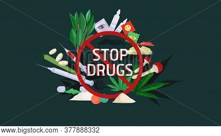 Stop Drugs Poster. Dangers Of Drug Use