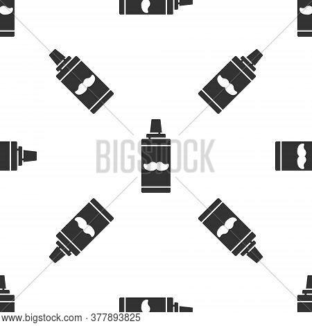 Grey Shaving Gel Foam Icon Isolated Seamless Pattern On White Background. Shaving Cream. Vector Illu