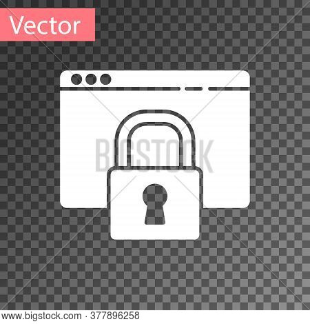 White Secure Your Site With Https, Ssl Icon Isolated On Transparent Background. Internet Communicati