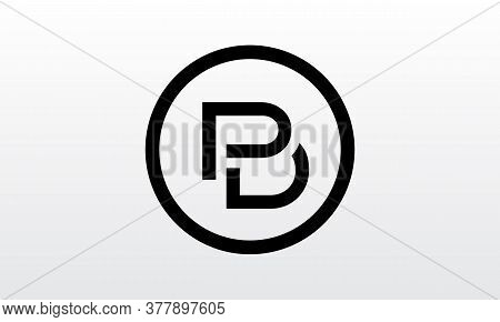 Initial Pd, Pb, B Letter Logo With Creative Modern Business Typography Vector Template. Creative Let