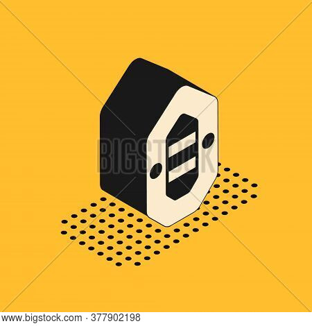 Isometric Rafting Boat Icon Isolated On Yellow Background. Inflatable Boat. Water Sports, Extreme Sp