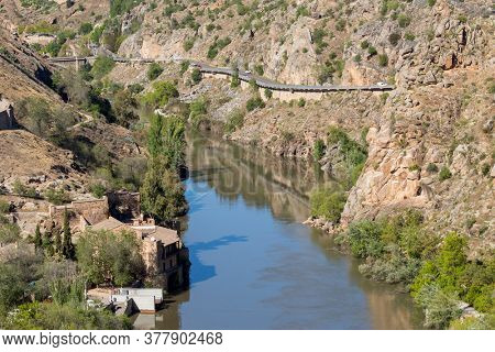 sedimentary formation of the Tagus river course, Toledo, Spain