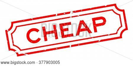 Grunge Red Cheap Word Rubber Seal Stamp On White Background