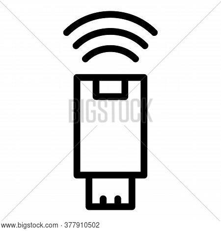 Wireless Remote Control Icon. Outline Wireless Remote Control Vector Icon For Web Design Isolated On