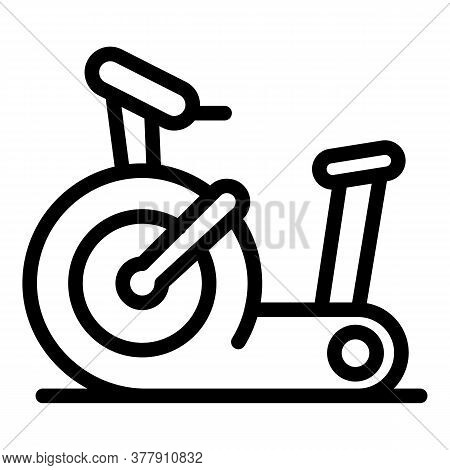 Gym Exercise Bike Icon. Outline Gym Exercise Bike Vector Icon For Web Design Isolated On White Backg