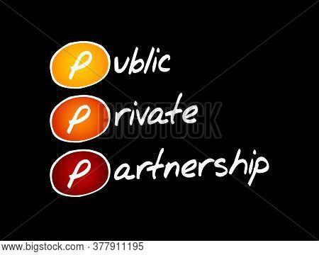 Ppp - Public-private Partnership, Acronym Business Concept