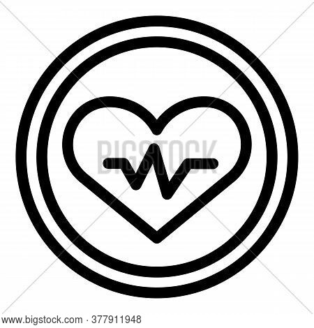 Workout Senior Healthy Heart Icon. Outline Workout Senior Healthy Heart Vector Icon For Web Design I