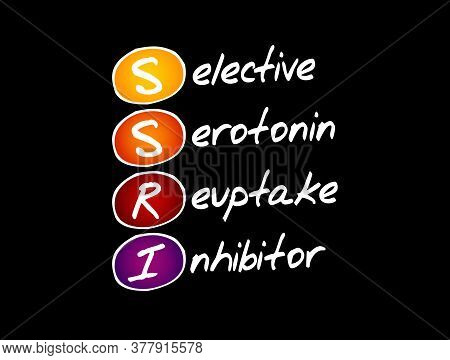 Ssri - Selective Serotonin Reuptake Inhibitor Acronym, Concept Background