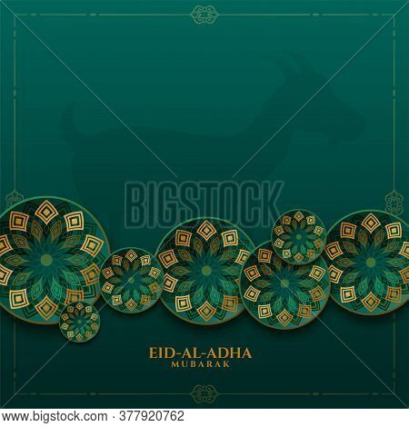 Decorative Islamic Eid Al Adha Festival Background Design