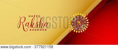 Brother And Sister Raksha Bandhan Festival Banner Design