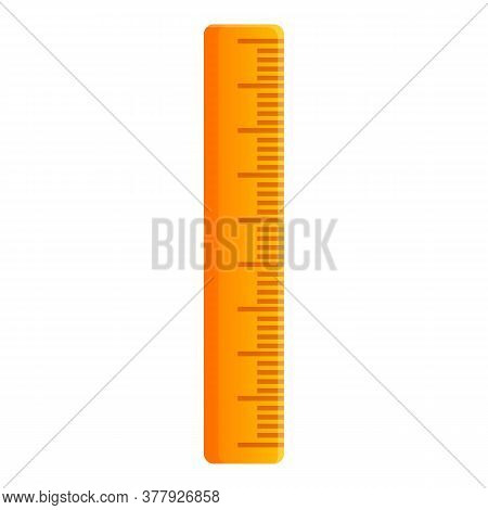 Carpenter Wood Ruler Icon. Cartoon Of Carpenter Wood Ruler Vector Icon For Web Design Isolated On Wh