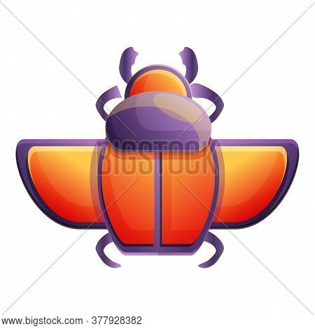 History Scarab Beetle Icon. Cartoon Of History Scarab Beetle Vector Icon For Web Design Isolated On