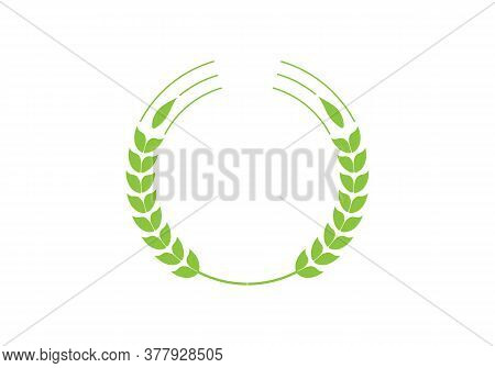 Simple Wheats Ears Icons And Wheat Logo Design Elements For Beer, Organic Fresh Food Corn Farm