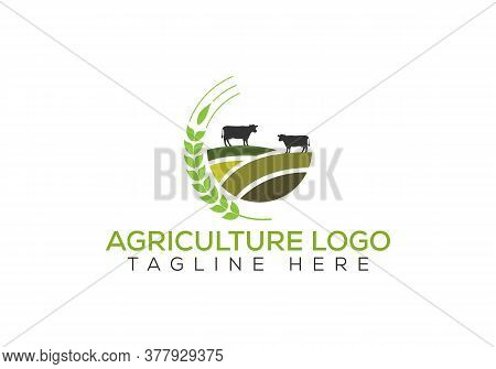 Farm Industries And Agronomy, Illustration, Logo For The Agricultural Industry