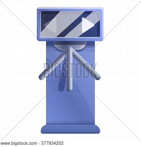 Tripod Turnstile Icon. Cartoon Of Tripod Turnstile Vector Icon For Web Design Isolated On White Back