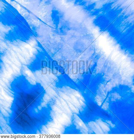 Indigo Oriental Art. Clouds Navy Print. Batik Weather Cold Print. Jeans Indigo Shibori Print. Frost