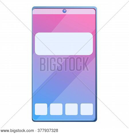 New Touch Smartphone Icon. Cartoon Of New Touch Smartphone Vector Icon For Web Design Isolated On Wh