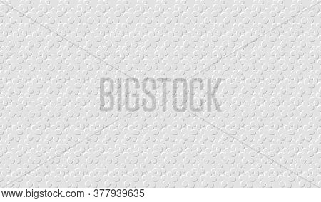 White Floral Background. Paper With Embossed Effect Texture. Vector Eps10