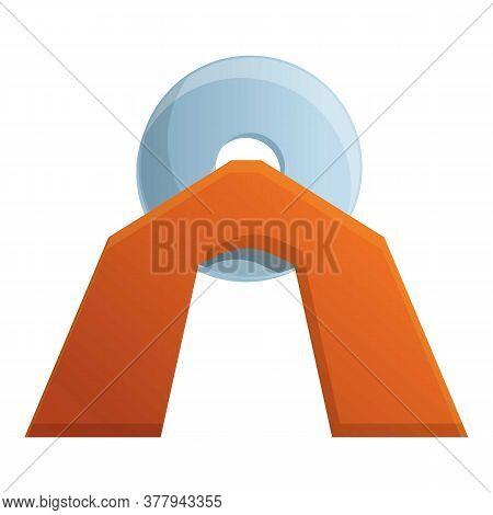 Blacksmith Circular Equipment Icon. Cartoon Of Blacksmith Circular Equipment Vector Icon For Web Des