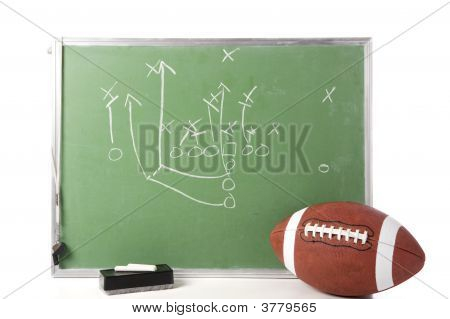 Football Play On Chalkboard