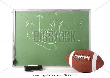 Football Spiel auf Tafel