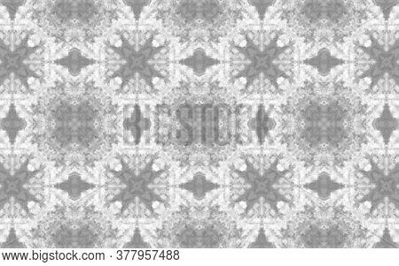 Retro Boho Rug. Watercolor Majolica Tile. Summer Retro Rug. Black, White Seamless  Folk Embroidery.