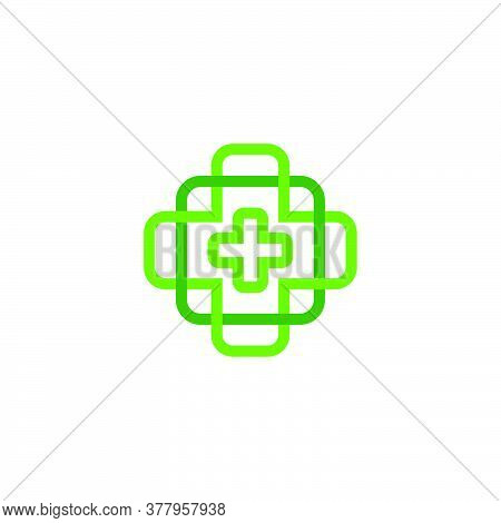 Vector Of Plus Medical Symbol Colorful Overlapping Design Logo