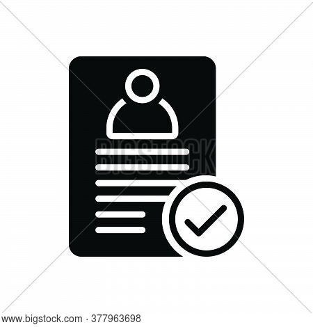 Black Solid Icon For Approve Accept Approval Checkmark Successful List Assumptions
