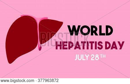 Happy World Hepatitis Day Background Template. International World Hepatitis Day. Eps8.