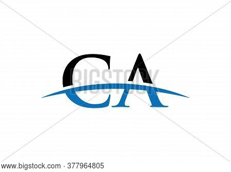 Ca Letter Linked Logo For Business And Company Identity. Creative Letter Ca Logo Vector Template.