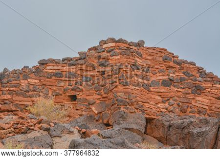 Ruins Of The Citadel Is A Lava Capped Mesa Village. One Of The Ancient American Culture Sites At Wup