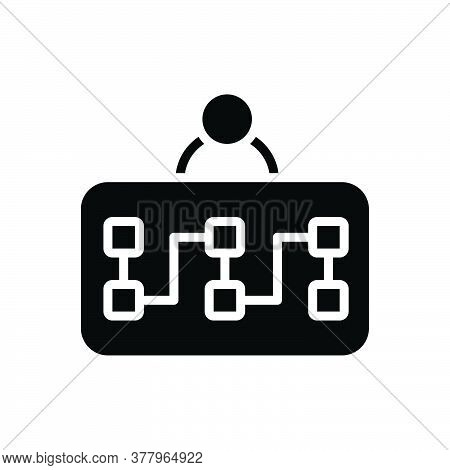 Black Solid Icon For Planning Plan Strategy Marketing Policy Clipboard  Scheme Task