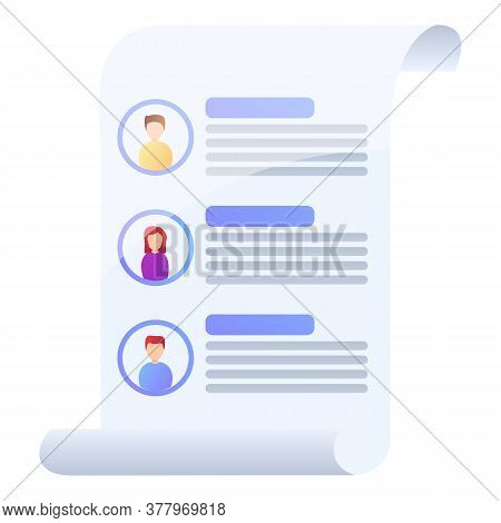 Candidate Manager Headhunter Icon. Cartoon Of Candidate Manager Headhunter Vector Icon For Web Desig