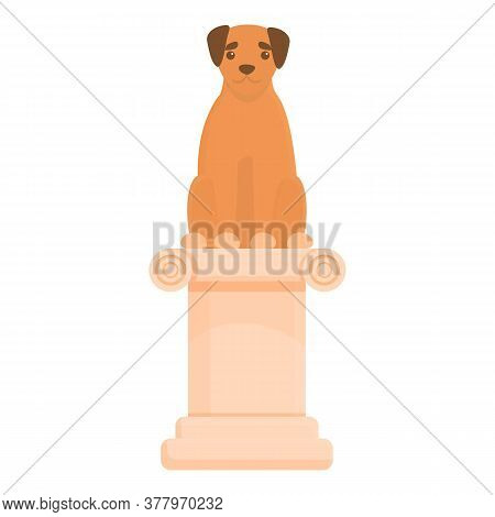 Dog Exposition Column Icon. Cartoon Of Dog Exposition Column Vector Icon For Web Design Isolated On