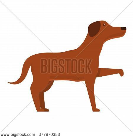 Dog Gives Paw Icon. Cartoon Of Dog Gives Paw Vector Icon For Web Design Isolated On White Background