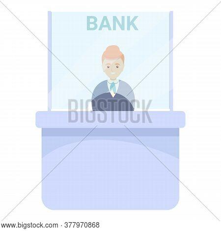 Modern Bank Teller Icon. Cartoon Of Modern Bank Teller Vector Icon For Web Design Isolated On White