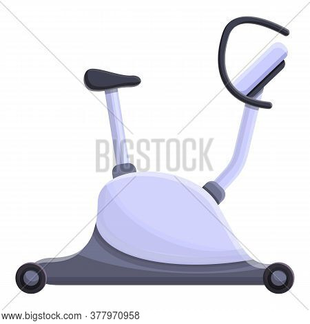 Modern Exercise Bike Icon. Cartoon Of Modern Exercise Bike Vector Icon For Web Design Isolated On Wh