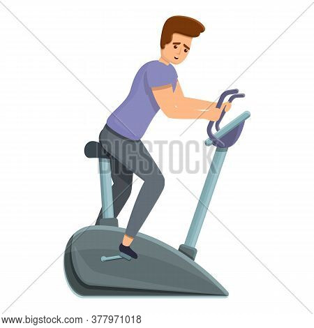 Home Exercise Bike Icon. Cartoon Of Home Exercise Bike Vector Icon For Web Design Isolated On White