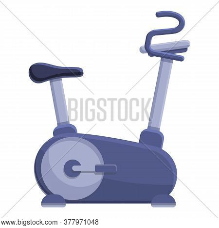 Workout Exercise Bike Icon. Cartoon Of Workout Exercise Bike Vector Icon For Web Design Isolated On