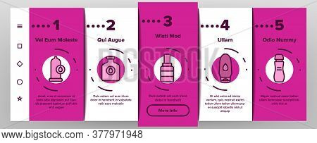 Lubricant Container Onboarding Mobile App Page Screen Vector. Lubricant Liquid , Oil And Cream Tube