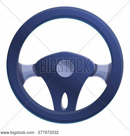 Auto Steering Wheel Icon. Cartoon Of Auto Steering Wheel Vector Icon For Web Design Isolated On Whit