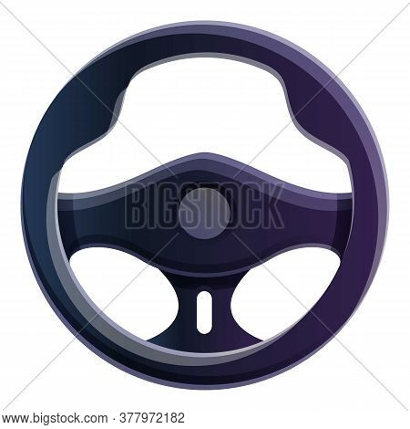 Racing Steering Wheel Icon. Cartoon Of Racing Steering Wheel Vector Icon For Web Design Isolated On