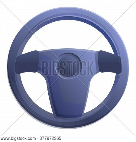 Car Part Steering Wheel Icon. Cartoon Of Car Part Steering Wheel Vector Icon For Web Design Isolated