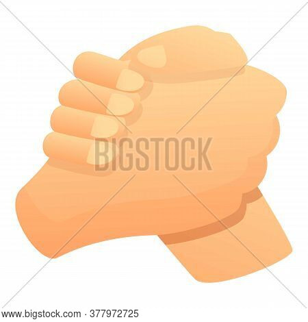 Handshake Arm Wrestling Icon. Cartoon Of Handshake Arm Wrestling Vector Icon For Web Design Isolated