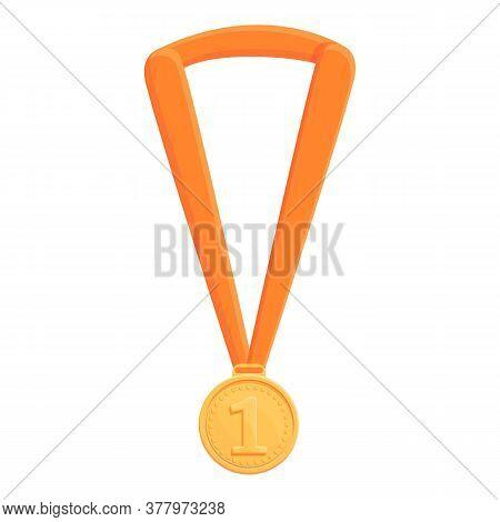 Greco-roman Wrestling Gold Medal Icon. Cartoon Of Greco-roman Wrestling Gold Medal Vector Icon For W
