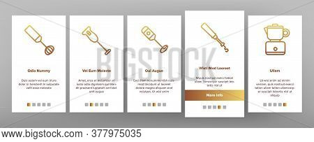 Milk Frother Device Onboarding Mobile App Page Screen Vector. Milk Frother Kitchen Electronic Equipm
