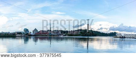 Panorama Of Sentosa Island Harbour Front And Sentosa Bay, Singapore, July 25 2020
